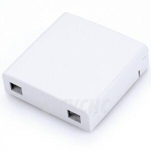 Image 2 - 5pcs 2 cores Fiber Terminal Box 86x86mm panel/FTTH ODN