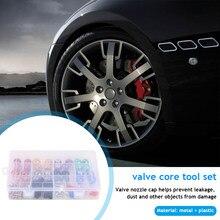 Metall Kunststoff Reifen Ventil Stem Cap 115 in 1 Staub Abdeckung Ventil Core Werkzeug Set Leicht Installation Persönliche Auto Elemente