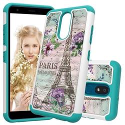 На Алиэкспресс купить чехол для смартфона fashion ultra thin 2 in 1 silicone + hard pc case for lg k30 2019 g8 thinq stylo 5 case beautiful flower pattern phone cover