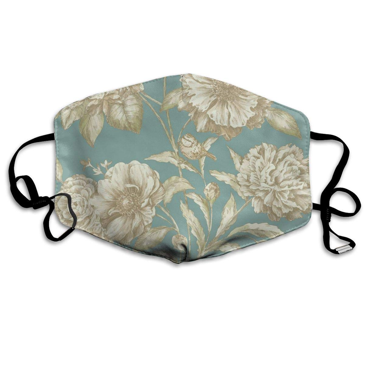 Mouth Mask for Daily Dress Up, Flower Floral Anti-dust Mouth-Muffle, Washable Reusable Holiday Half Face Masks for Mens and