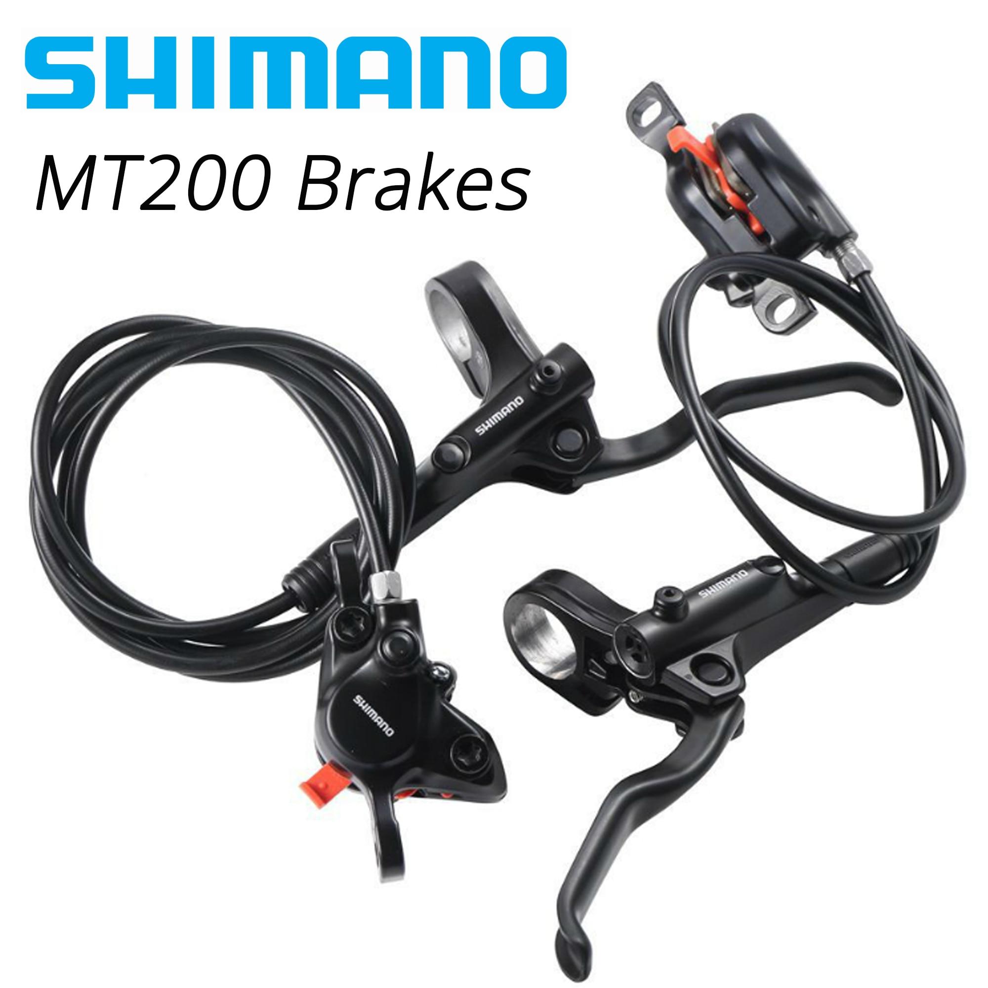 Shimano Juego de frenos de disco hidráulicos para bicicleta de montaña MT200 MT201 M315, con palanca de frenos Avid|Freno de bicicleta| - AliExpress