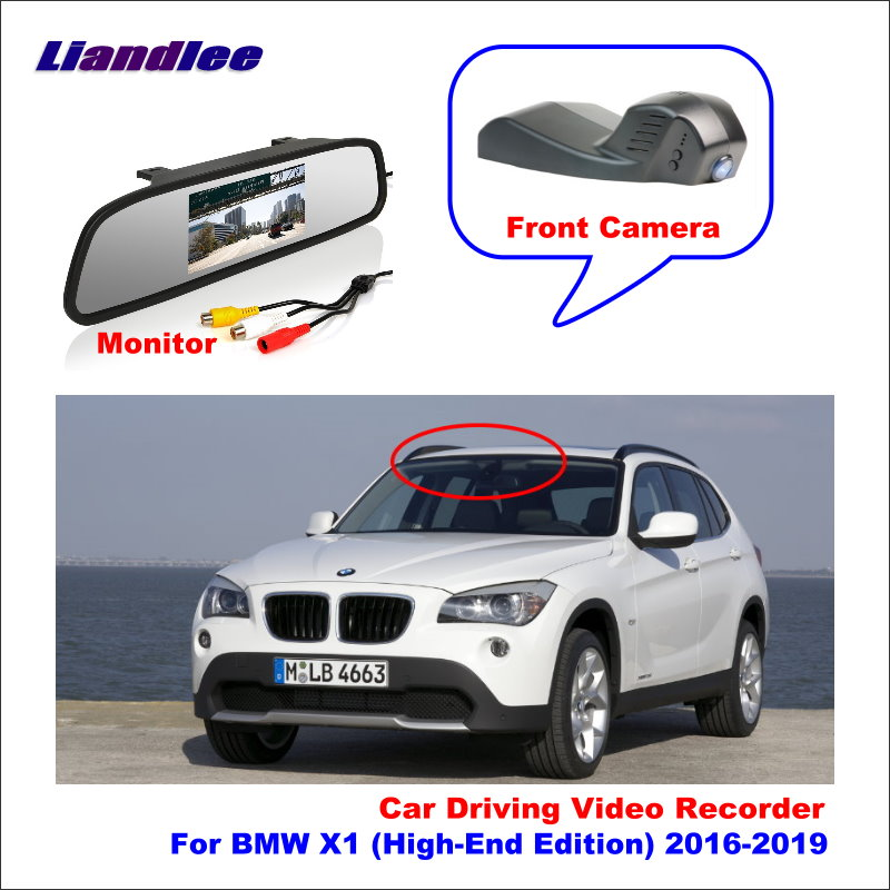 Liandlee For BMW X1 E84 F48 (High Edition) 2016 Car DVR Wifi Video Recorder Dash Cam Camera Night Vision Control Phone APP 1080P image