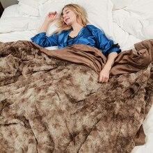 Одеяло из искусственного меха   гипоаллергенное одеяло для кровати дивана, супер мягкий светильник роскошный уютный теплый Пушистый Плюшевый Бланк