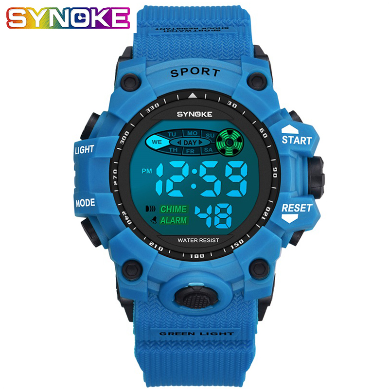 Men Sport <font><b>Watch</b></font> <font><b>Big</b></font> Dial Digital <font><b>Watches</b></font> for Men Led <font><b>Watch</b></font> Chronograph Auto Date Repeater Fashion Casual <font><b>Unisex</b></font> Wristwatch image