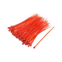 uxcell 1000pcs Cable Zip Ties 100mmx1.8mm Self-Locking Nylon Tie Wraps Red Single-use Locking Flexible Cable Tie