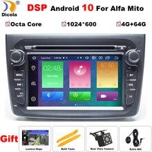 PX5 4 + 64G DSP 1 Din Android 10 Auto Multimedia Player Für Alfa Romeo Mito 2008  CANBUS auto Radio Hexa Core Video DVD GPS System