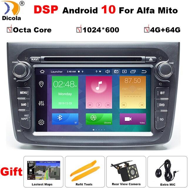 PX5 Auto Radio Android 10 Für Alfa Romeo Mito 2008 Octa core RAM 4G ROM 64G Auto multimedia Video DVD Player GPS USB FM