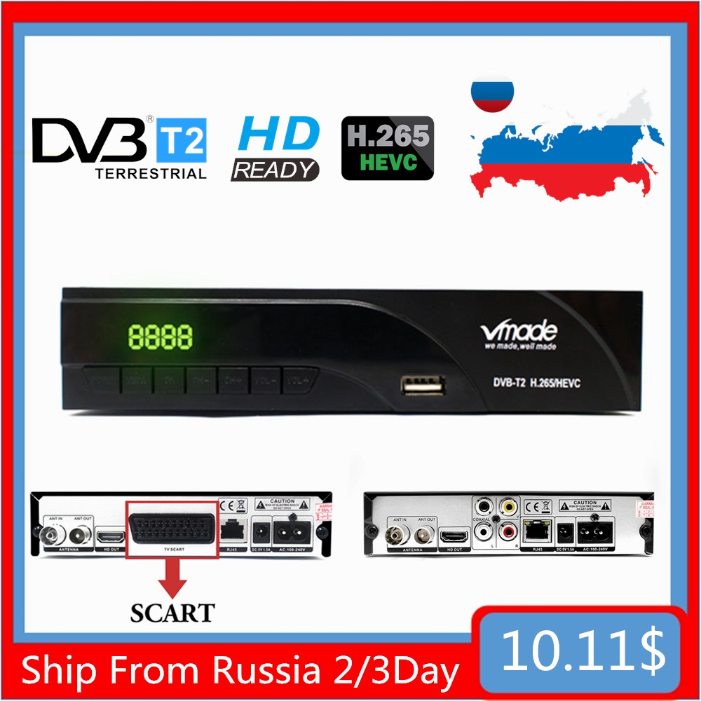 2020 Смарт мини-приставка DVB T2 H.265 HEVC цифровой ТВ-тюнер Wi-Fi телеприставка российский наземный приемник Встроенная Сеть RJ45 M3U