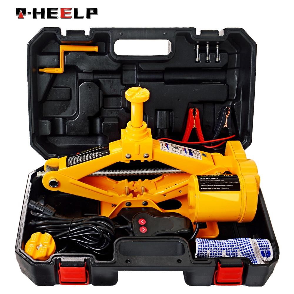 E-HEELP Portable 12V Car Jack 3Ton Electric Jack Auto Lift Scissor Jack Lifting Machinisms Lift Jack MutiFunction