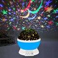 Светодиодные Звездные огни вращающийся Романтический Звездный проектор звездный проектор Лунная лампа детская спальня звезда Галактичес...