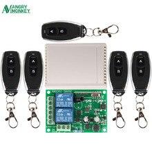 433 Mhz evrensel kablosuz uzaktan kumanda anahtarı AC 250V 110V 220V 2CH röle alıcı modülü ve 5 adet RF 433 Mhz uzaktan kumandalar