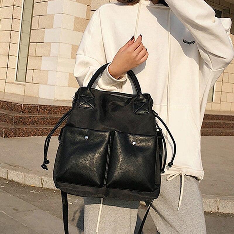 Женская нейлоновая и PU кожаная сумка тоут женские сумки женские дизайнерские вместительные, для отдыха большие сумки на ремне сумки через плечо Bolsa|Сумки с ручками|   | АлиЭкспресс