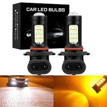 2 шт 9005 лм 9006 h8 h11 светодиодные лампы для противотуманных