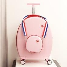 Прекрасный персональный круглый чехол на колесиках 20 дюймов, короткая дорожная сумка на колесиках+ багаж на колесиках, фирменный туристический чемодан на вращающихся колесиках