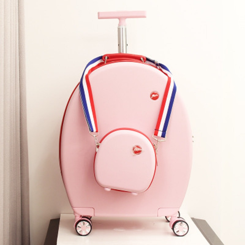 lovely Personality round trolley case 20 inch short journey Boarding handbag +Rolling Luggage Spinner brand Travel Suitcase
