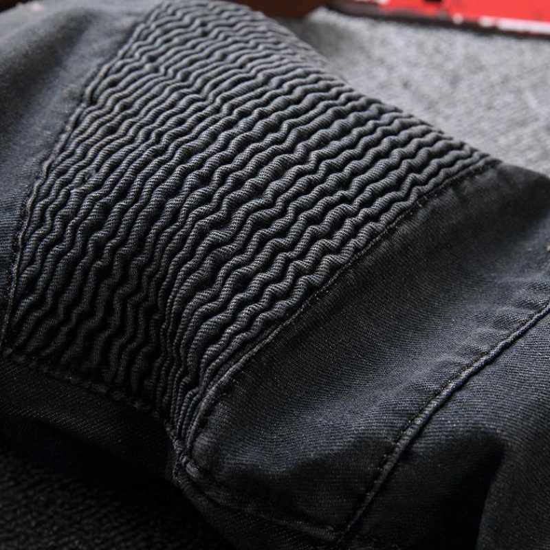Top Marke Mode Mens Slim Fit Denim Jeans Jungen Schlank Biker Hosen Dünne Gerade Runway Elastische Jeans Hosen Blau Größe 28--42