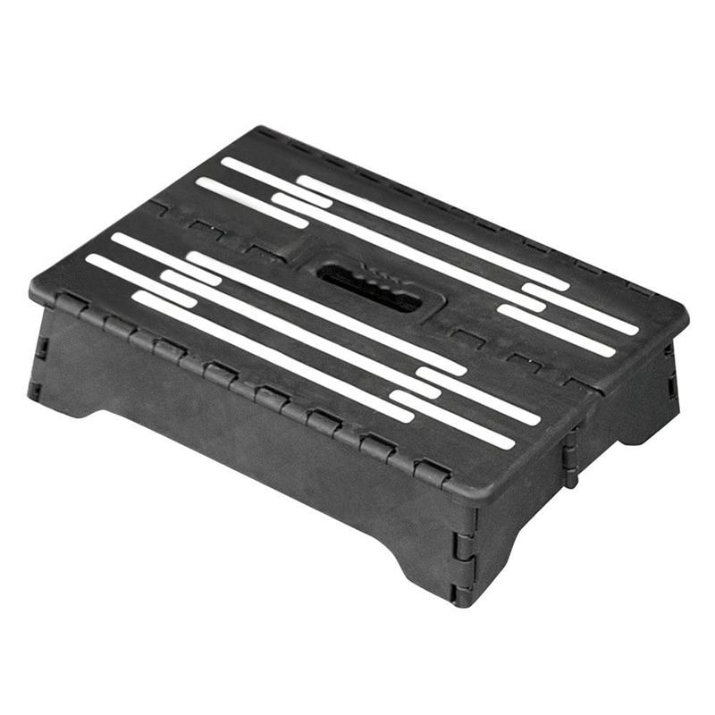 Portable Help Step Folding Riser Step Stool - Black
