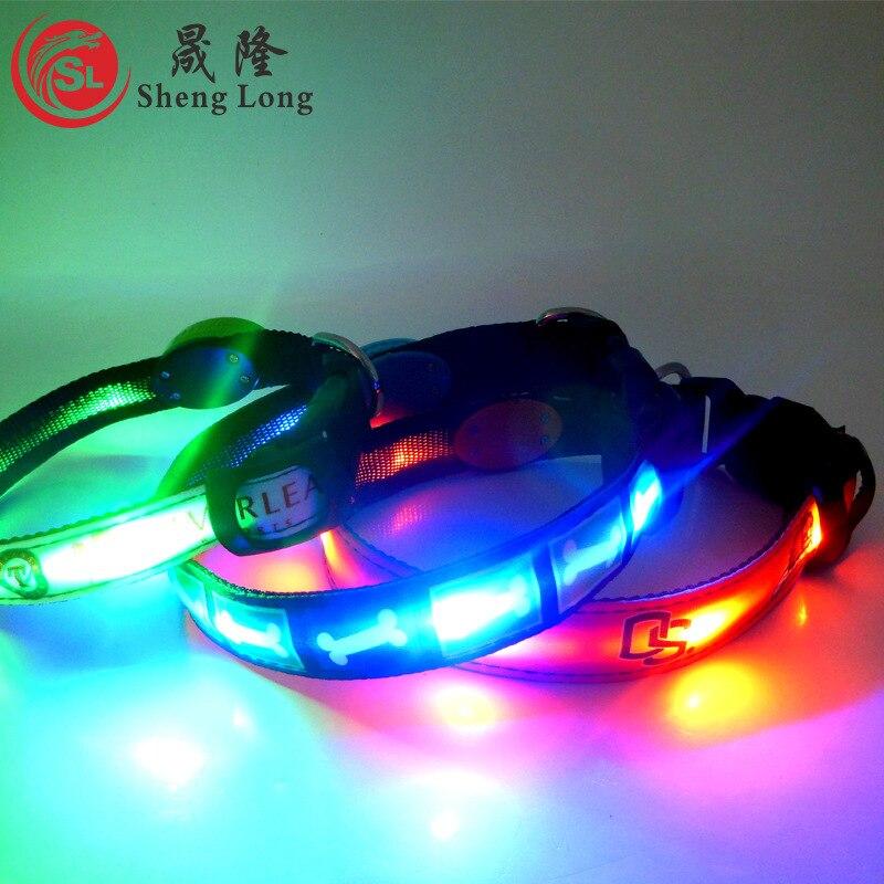 LED Dog Luminous Collar LED Pet Collar USB Rechargeable Waterproof Flash Nylon Dog Collar