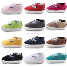 DHL 50pair Baby First Shoes Canvas Classic Sports Sneakers Newborn Baby Boys Girls First Walkers Spring Autumn Infant Toddler cheap CN(Origin) T-tied Spring Autumn Lace-Up Solid Unisex Cork Fits true to size take your normal size 11cm 12cm 13cm 10007672