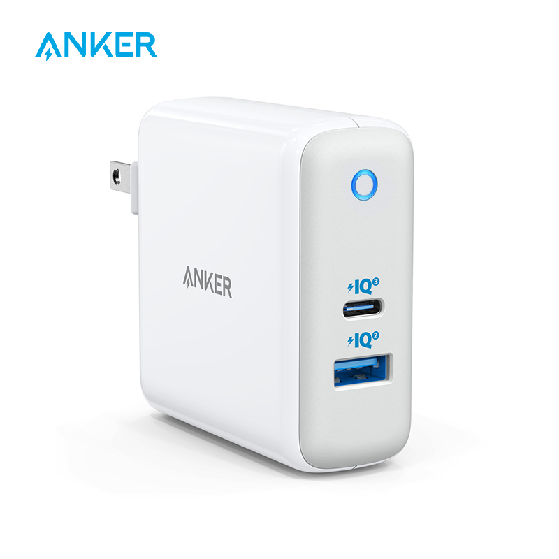 USB C Charger, Anker 60W PIQ 3.0 & GaN Tech Dual Port Charger, PowerPort Atom III (2 Ports) Travel Charger With A 45W USB C Port