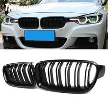 High Quality ABS Car Styling Front Kidney Grille Dual Slat Grille For BMW F30 F31 F35 2012 2017 320i 325i 328i Auto Accessories