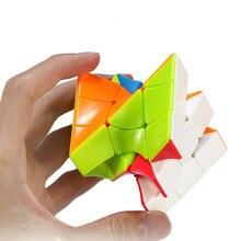 Neo burulma sihirli küp renkli Twisted Cube bulmaca parmak oyuncakları profesyonel hız küpleri eğitici oyuncaklar çocuk yetişkin hediye için