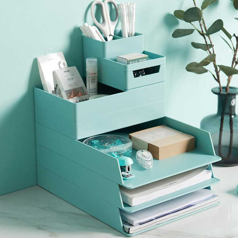 Tijdschrift Stand Document Opbergdoos A4 Document Trays Brochure Houder Papier Trays Organizer Office Accessoires Desk Organizer