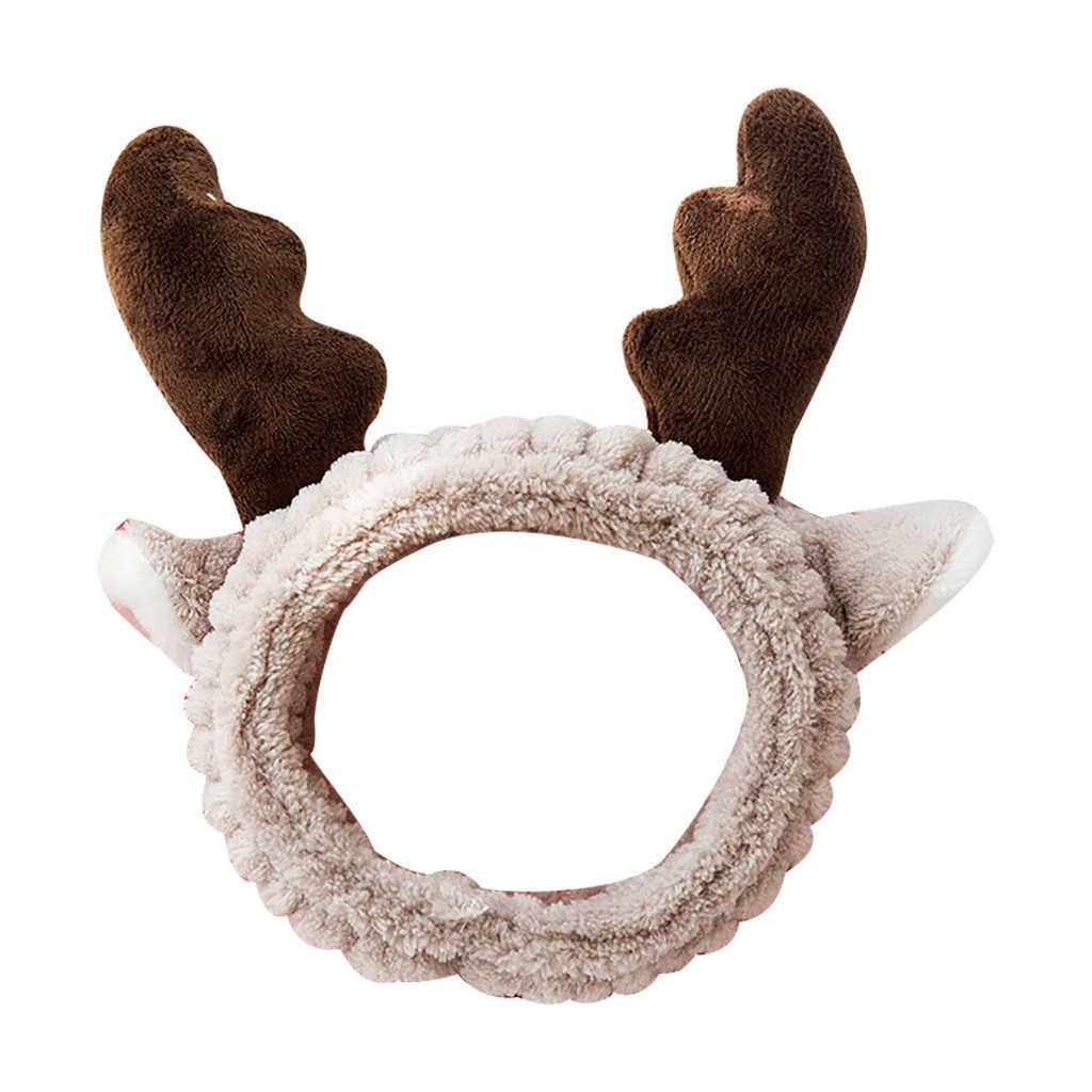 Твердые рога уши головная повязка удобные кроличьи уши спа ванна душ снятие макияжа лица Косметические заколки для волос 1111