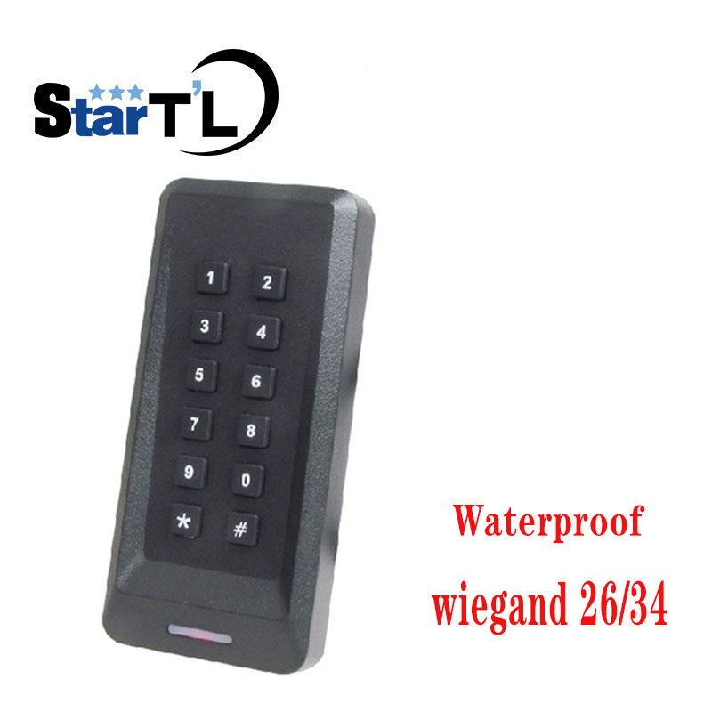 Waterproof Keypad Wiegand 26 34 Proximity 125khz Rfid Access Control Card Reader