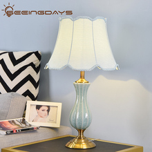Buy 3 Get 20 Off American Style Green Ceramic Table Lamp For Bedroom Living Room Led