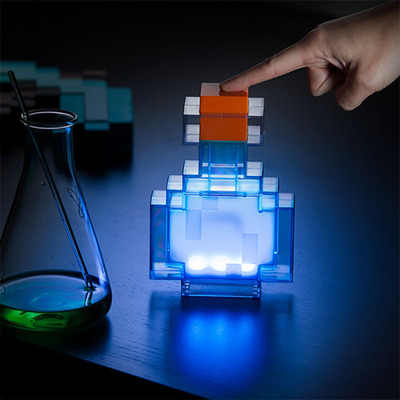 Asli Action Figure Light Up LED Torch Hand Held Dinding Mount Populer Bluestone Redstone Berlian Bijih Square Light Model Mainan