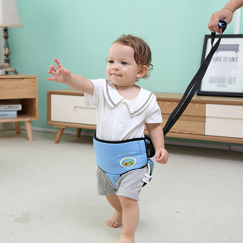 F-B Soft Elastic Baby Learning Walking Balance Assistant Walker Toddler Belt With Adjustable Strap Safety Harness Protection