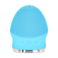Electric Facial Cleansing Brush Silicone Sonic Vibration Cleaner Deep Pore Cleaning Skin Massager Face Brush Face Cleaner New 2