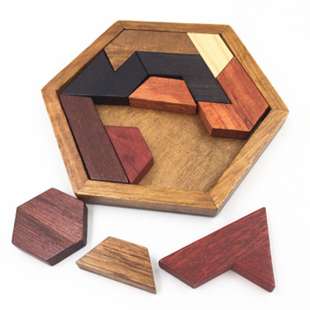 Puzzles Intelligence Luban Locks China Traditional Unlock Toy Baby Wooden Puzzle Brain Teaser Games Magic Educational Toys