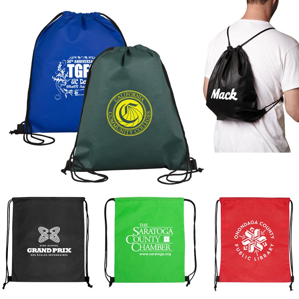 (3000pcs/lot)  Size 35x40cm Custom Printed Camping Cycling Backpack For Marathon