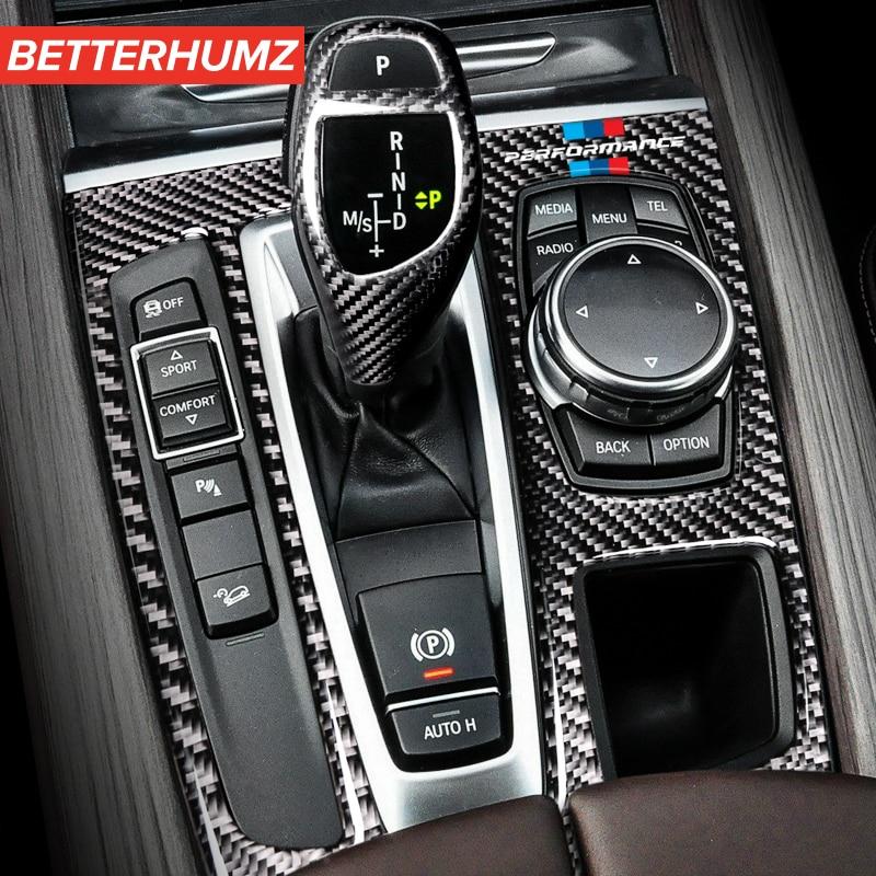 Внутренняя Панель переключения передач из углеродного волокна M для BMW F15 F16 X5 X6, авто наклейки, Стайлинг автомобиля для аксессуаров 2014-2018