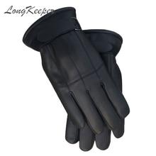 Перчатки longkeeper мужские из натуральной кожи зимние варежки