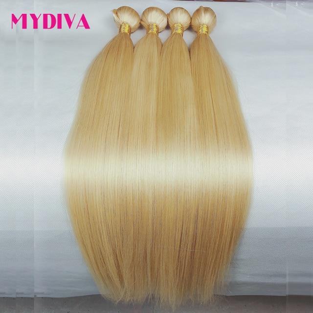 Tissage en lot brésilien naturel Remy lisse-blond miel 613 | 8 à 32 pouces, extensions de cheveux, vous pouvez acheter 1 3 4 lots, offre