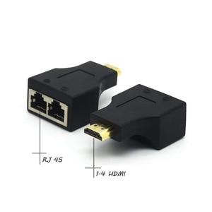 Image 5 - 1 زوج HDMI فيديو تمديد محول RJ45 ماكس 30 متر ل HDTV كعب دي في دي العارض