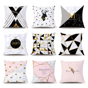 Pillows Cases Nordic Marble Ge
