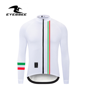 Image 4 - Italien radfahren jersey EYESSEE Männer fit leichte stoff Langarm Radfahren Trikots 5 farben Rennrad MTB rennen fahrrad kleidung