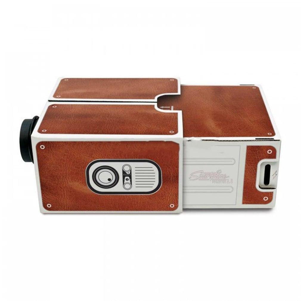 Второе поколение компактный DIY смартфон цифровой Домашний кинотеатр развлекательный проектор простая установка