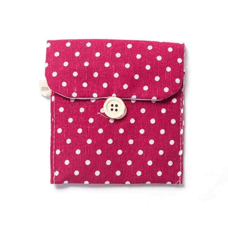 1/3 sztuk gospodarstwa domowego Polka Dot pościel bawełniana podpaska higieniczna etui ciocia torba na ręczniki dziewczyny pieluchy podpaska higieniczna przechowywanie kosmetyków torby