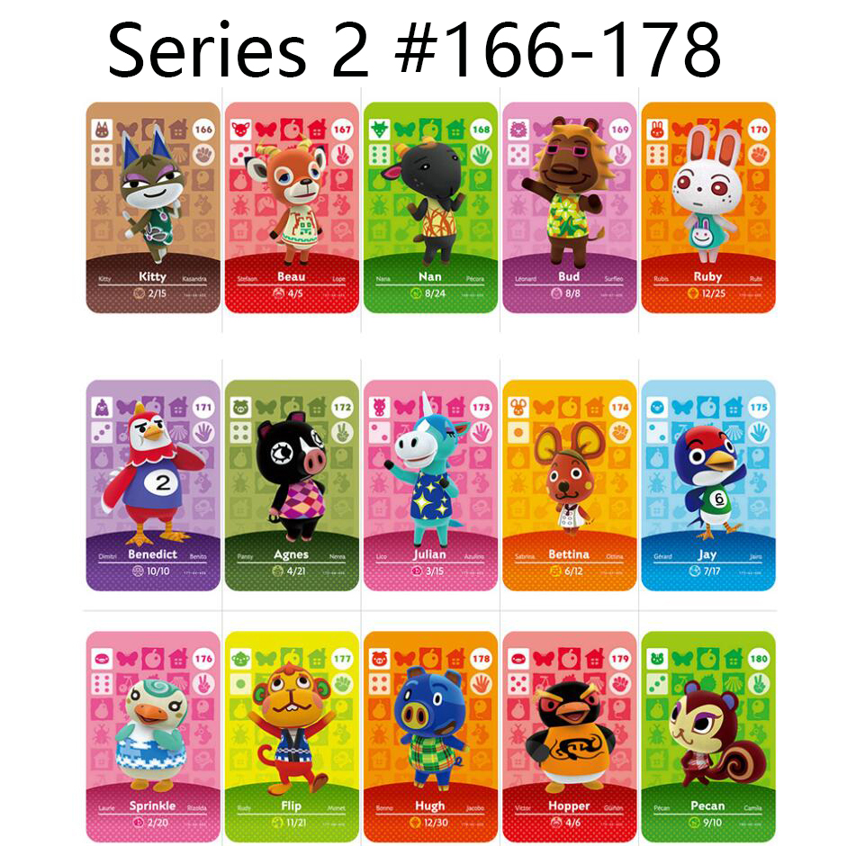 Series 2 (166 To 178) Animal Crossing Card Amiibo Cards Locks Nfc Card Work For Switch NS 3DS Games Series 2 (166 To 178)