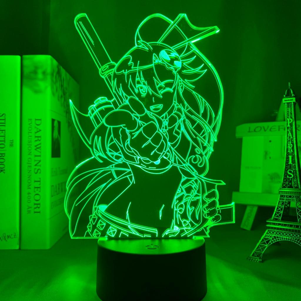 Hc2659943e98b4c129e0f9beea43787533 Luminária Anime gurren lagann yoko luz conduzida da noite para o quarto decoração presente de aniversário noite lâmpada yoko littner luz gurren lagann gadget