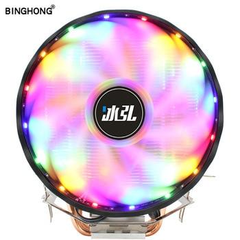 BINGHOIN 4 Heat Pipes CPU Cooler RGB 120mm PWM 4Pin Quiet CPU Cooling Fan For Intel LGA 1150 1151 1155 1366 AMD AM2 AM3 AM4 lga 2011 cpu cooler high quality 6 heat pipes dual tower cooling heat sink 4pin pwm cpu fans for 1150 1155 1156 775 am3 am4 1366