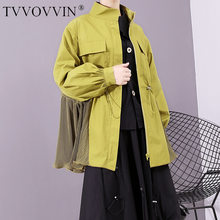 TVVOVVIN Europe Fashion Women Jackets Solid Color Wild Cotton Ladies Jackets Autumn New 2019 Casual Women Clothing L645(China)