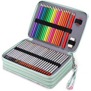 Estojo escolar para meninos e meninas, estojo grande de lápis para escola, 160/200 orifícios, cartucho grande, bolsa profissional