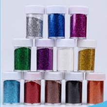 Glitter Powder Beauty High Quality Laser Silver PET Environmental Protection 12 Color Bottled Handmade DIY Sequins