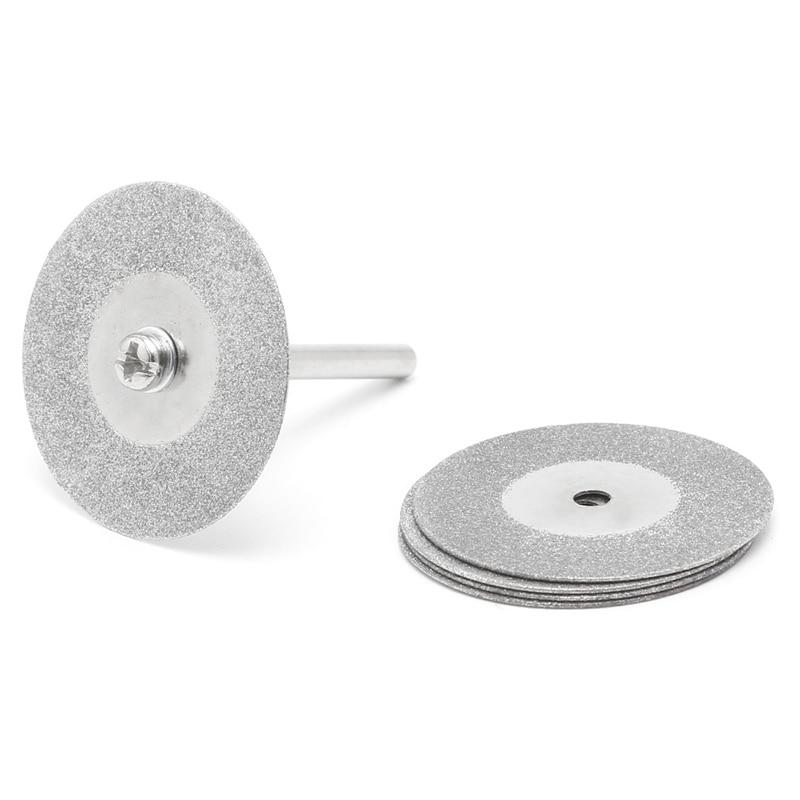 5pcs 50mm Diamonte Cutting Discs Drill Bit Shank For Rotary Tool Blade G8TB